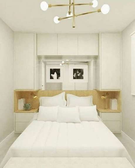 36. Modelo de guarda-roupa com cama embutida de casal. Fonte: Pinterest