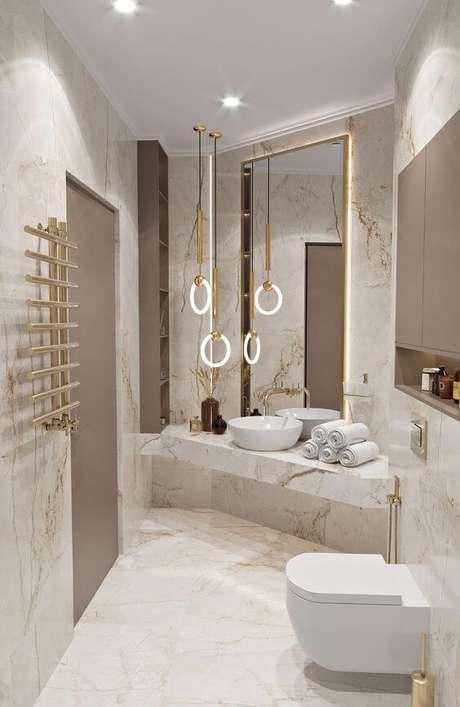 71. Lavabo luxuoso com revestimento marmorizado – Foto Behance