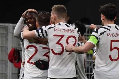 Pogba marcou aos 48 minutos de jogo (Foto: MARCO BERTORELLO / AFP)