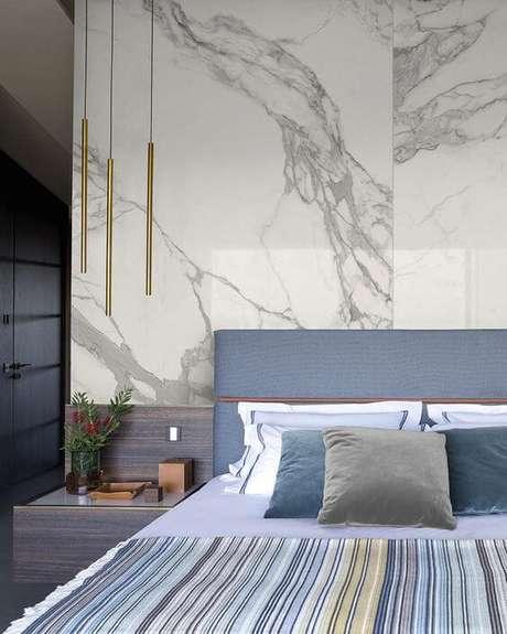 12. Quarto com revestimento marmorizado – Foto Portobello