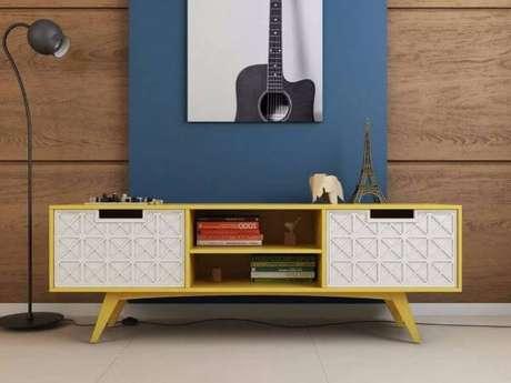 34. Rack pé palito branco e amarelo – Foto Pinterest