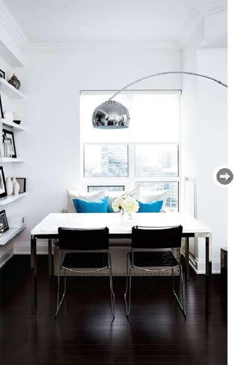 48. home office decorado com piso preto vinilico – Foto Style at Home