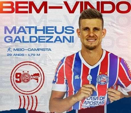 Atleta de 29 anos de idade é formado no Rio Branco-SP (Divulgação/Bahia)