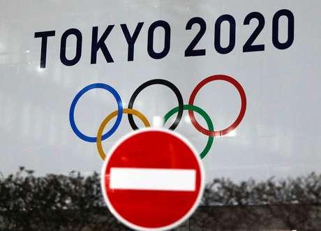 Logo da Olimpíada Tóquio-2020 em Tóquio 09/03/2021 REUTERS/Issei Kato