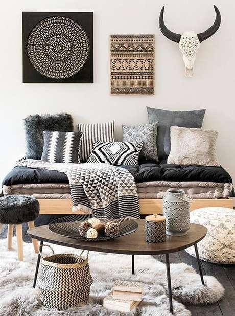 50. Tecido para almofada preto e branco na sala moderna – Foto Estilo Próprio By Sir