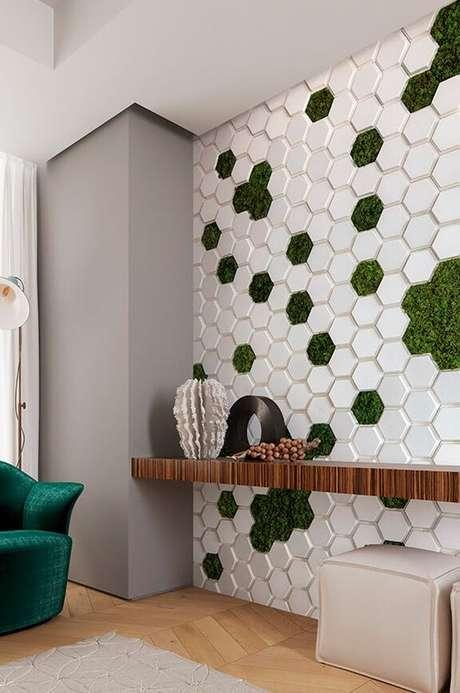 37. Revestimento para parede verde e branco – Foto Castelatto