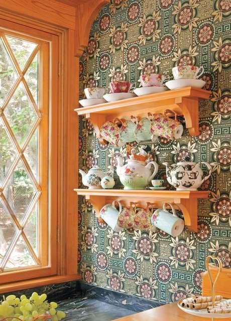 58. Revestimento verde para cozinha vintage charmosa – Foto Old House Online