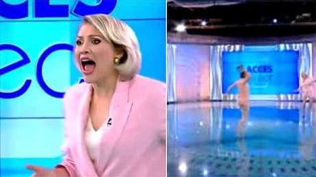Aos gritos, a apresentadora Mirela Vaida conseguiu se desvencilhar do ataque