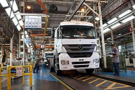 Fábrica da Mercedes-Benz em São Bernardo do Campo.
