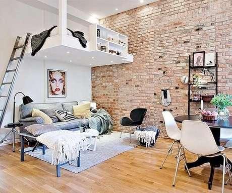 4. A cama mezanino favorece a criação de uma sala de estar no ambiente. Fonte: @studioz.pinheiros