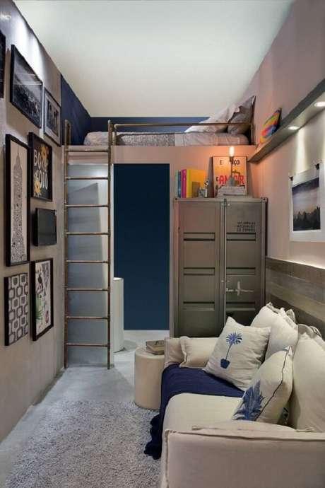 28. Miniapartamento com cama mezanino solteiro. Fonte: Minha Casa Abril