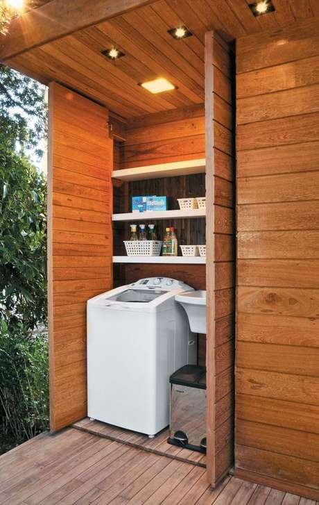 40. Área gourmet com lavanderia compacta – Foto Arkpad