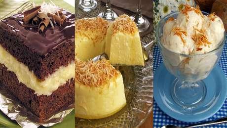 Confira como fazer sobremesas geladas de coco