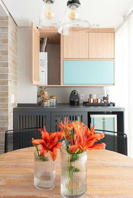 21. Lavandeira escondida na área gourmet – Foto Pinterest