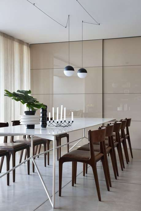37. Porta de correr para sala de jantar moderna – Foto Pinterset