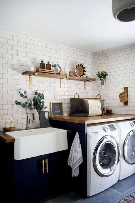 31. Modelo de lavanderia na área gourmet -Foto Pinterest