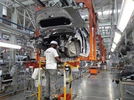 Montagem do Nissan Kicks na fábrica de Resende (RJ): paralisação de 17 dias.