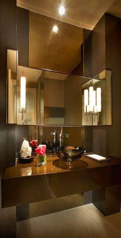 40. Decoração sofisticada para banheiro social – Foto: Homify
