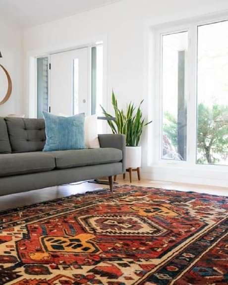 2. O tapete é o coringa das estampas e das texturas na decoração. Fonte: Unsplash