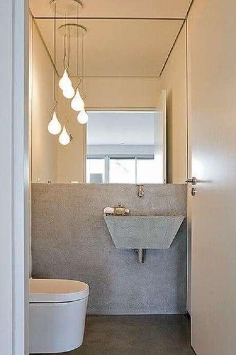 26. Decoração de banheiro social pequeno e minimalista – Foto: Pinterest