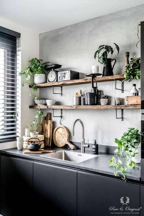 51. Cozinha com prateleira de mão francesa – Foto Homify