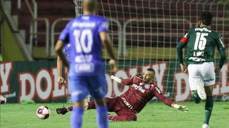 Goleiro do Verdão foi expulso na metade do primeiro tempo (Cesar Greco / Palmeiras)