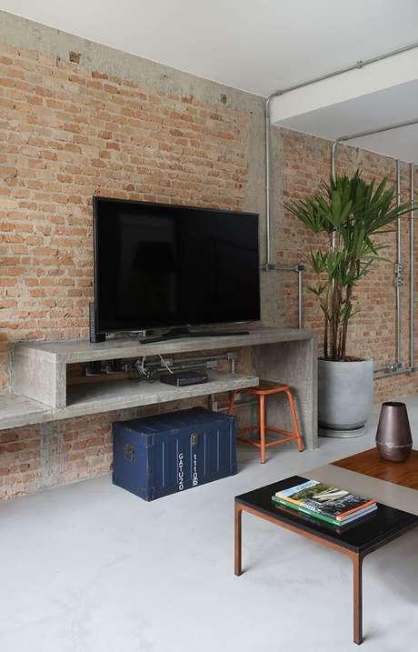 33. Papel de parede rustico para sala – Foto Casa de Valentina