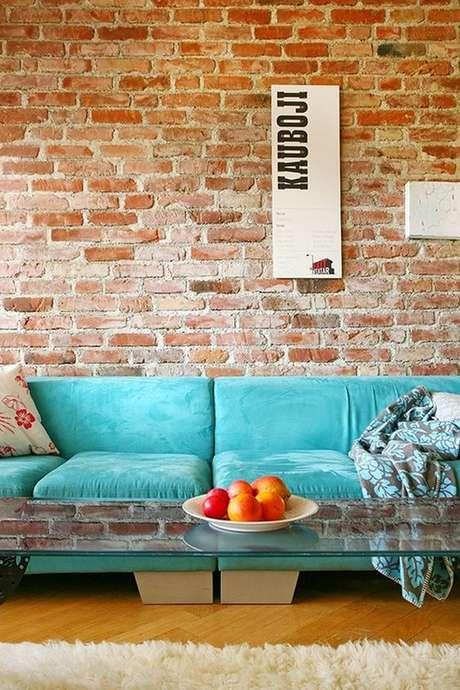 1. Decoração com papel de parede rustica Foto Gostei e Agora
