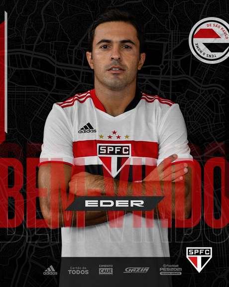 Eder chega ao São Paulo para fazer dupla de ataque com Luciano