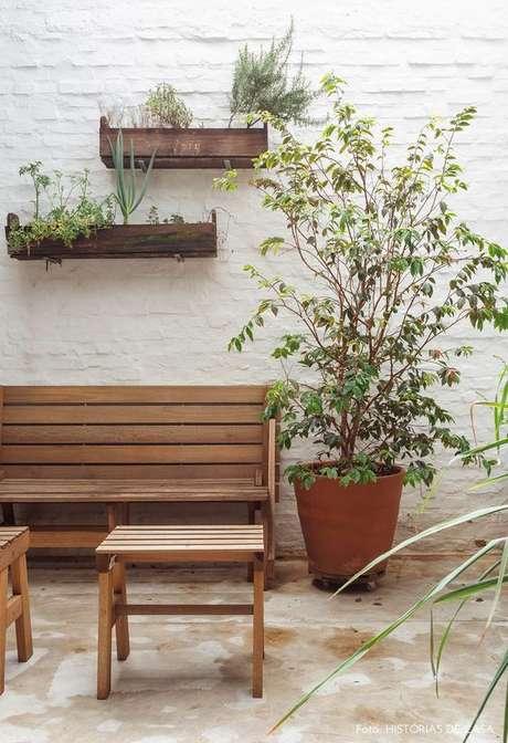 43. Papel de parede rustico de tijolinho branco – Foto Historias de Casa