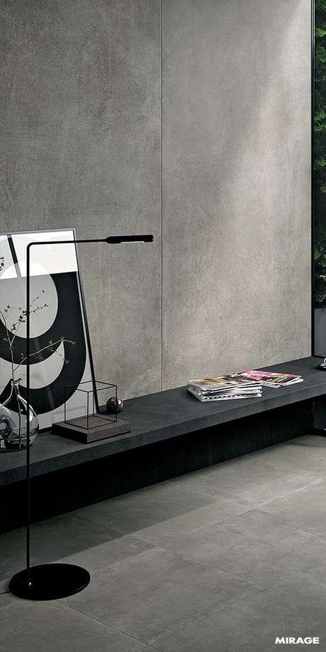 10. Papel de parede concreto para sala de estar – Foto Mirage