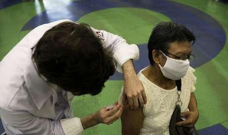 Vacinação no Rio de Janeiro 18/3/2021 REUTERS/Ricardo Moraes