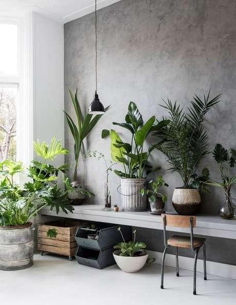 8. Papel de parede rustico que imita concreto – Foto Tanja Van Hoodgalem