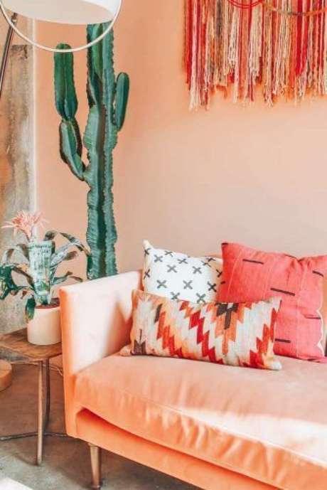 4. Cor coral para sala de estar – Foto Estilo proprio by sir