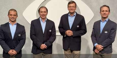Com Reginaldo Leme e Sérgio Maurício, Band estreia na F1 (Foto: Tatiane Moreno/Band)