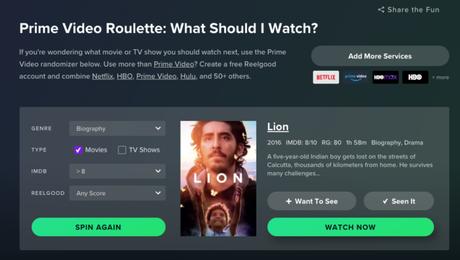 Prime Video Roulette