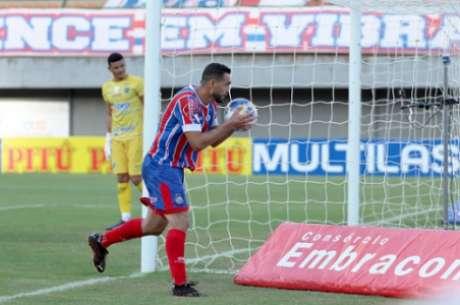Gilberto foi o nome do triunfo frente ao Altos (Felipe Oliveira / EC Bahia)