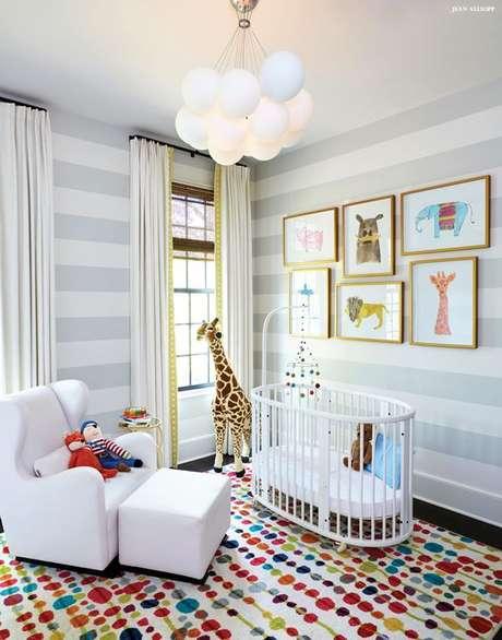 23. Lustre infantil em formato de nuvem para quarto de tema safari – Foto Birmingham
