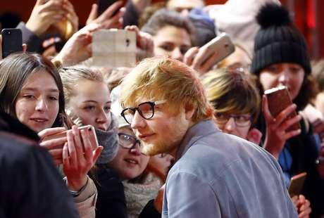 Ed Sheeran no Festival de Berlim  23/2/2018   REUTERS/Fabrizio Bensch