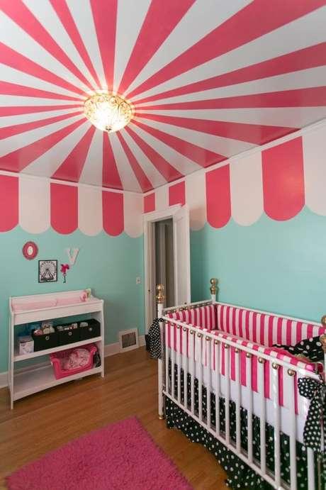 53. Quarto temático com lustre infantil circo – Foto Project Nursery