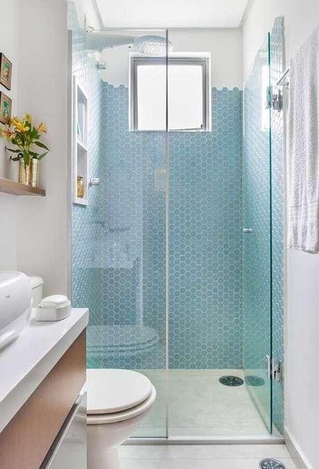 8. O azul claro é ideal para decorar banheiros pequenos – Foto: Houzz