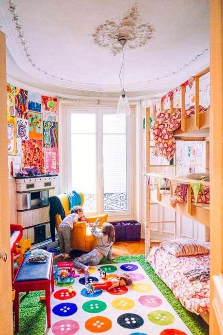 25. Lustre infantil para quarto alegre e colorido – Foto The Jungalow