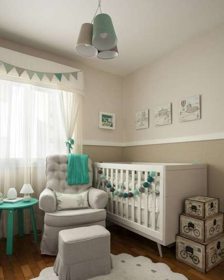 26. Lustre infantil para quarto de bebê – Foto Pinterest