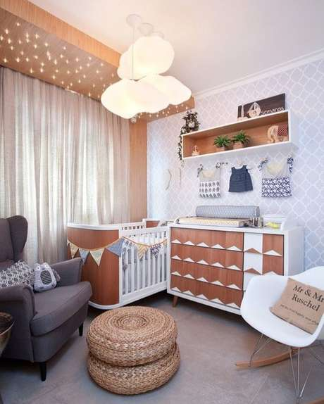 5. Lustre infantil de nuvem para quarto de bebê – Foto Pinterest