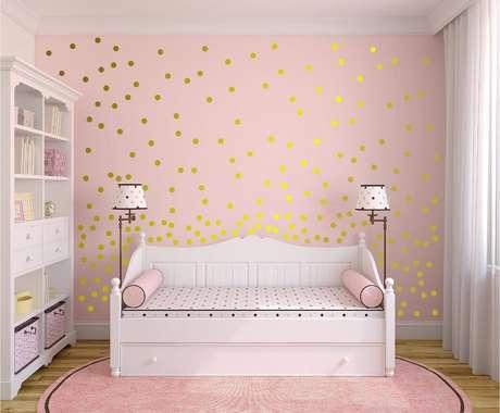 62. Papel de parede rosa e dourado – Foto Pinterest