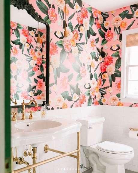 40. Papel de parede com flores – Foto Etsy