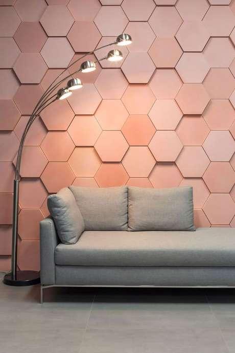 39. Papel de parede 3d rose gold – Foto Decortiles