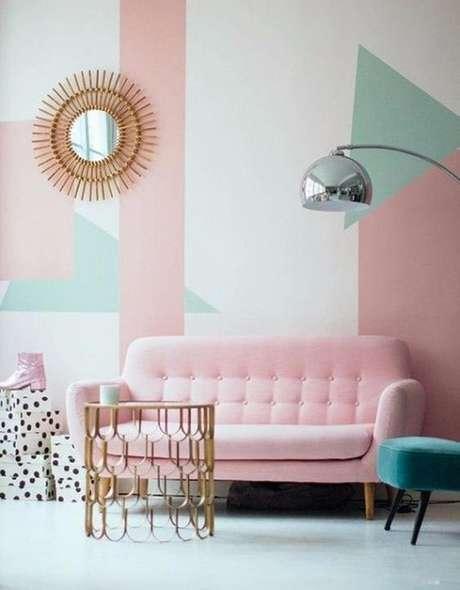 19. Papel de parede rosa e verde pastel – Foto You Can Find