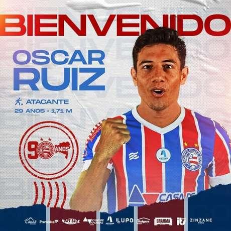 Jogador de 29 anos de idade terá primeira experiência fora do Paraguai (Divulgação/Bahia)