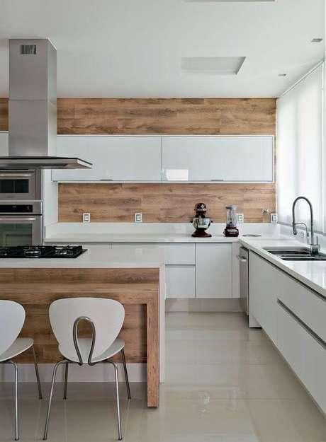 43. Cerâmica para cozinha bege e clássica – Foto Pinteest